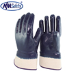 NMSAFETY industrial protective winter warm blue nitrile safeguard gloves
