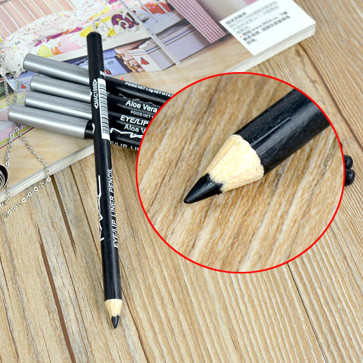 Waterproof Smooth Black Eyeliner Eyebrow Makeup Pencil