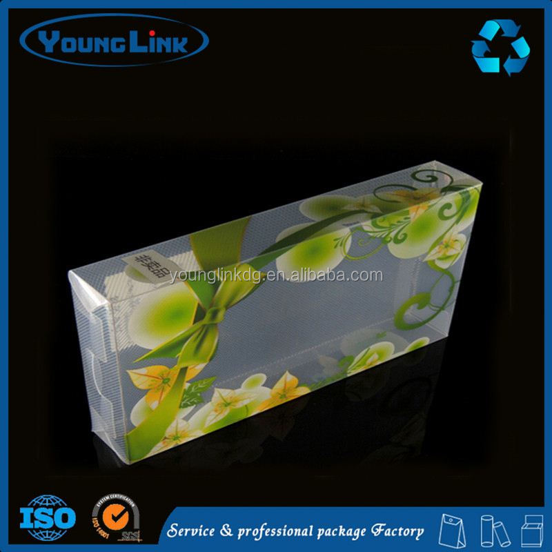 custom printed packaging transparent plastic clear pvc box