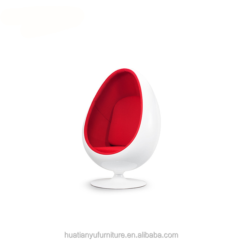 Modern round chaise replica LOL red plastic lounge chair