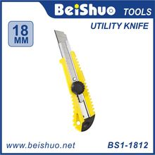 silver utility knife, cutter,single blade,BS1-1812 New Design Color Stationery Cutter Knife