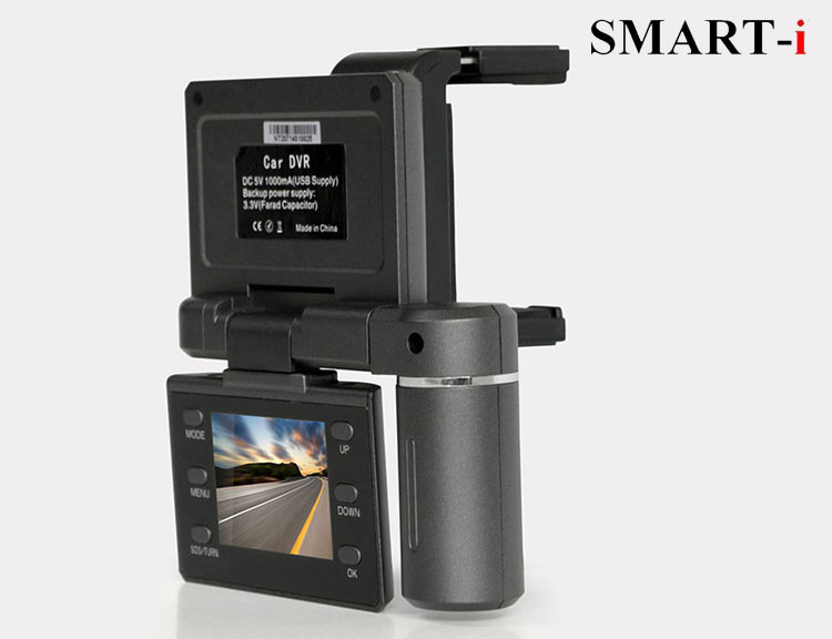 Rotatable full HD car DVR can recording inside and outside the car