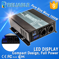 CE EMC approved 1000w LED Display high efficiency mini portable pure sine wave power inverter