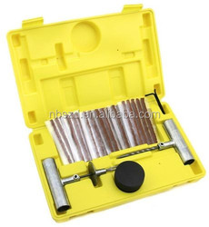 35pc DIY Flat Tire Repair Kit Car Truck Motorcycle At Home Plug Patch Set