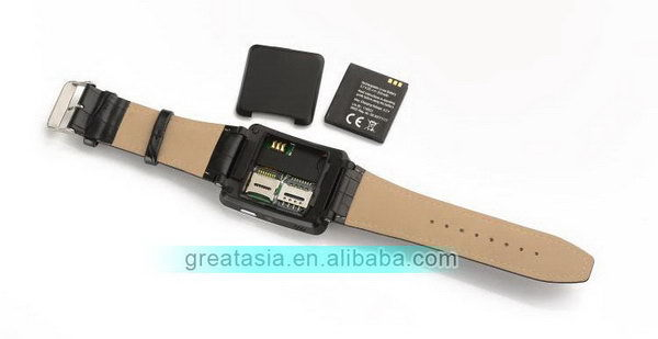 2016 Cheapest popular android watch dual 2g sim slot phone