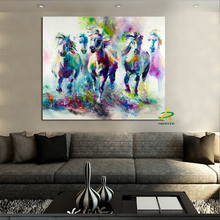 High Quality Wall Art Painting Animal Painting print On Canvas Running Horses Painting Home Decoration