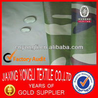 190T PVC and CAMO Print raincoat rubber fabric