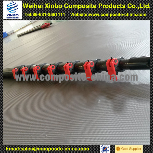 10m , 15m carbon fiber telescopic pole