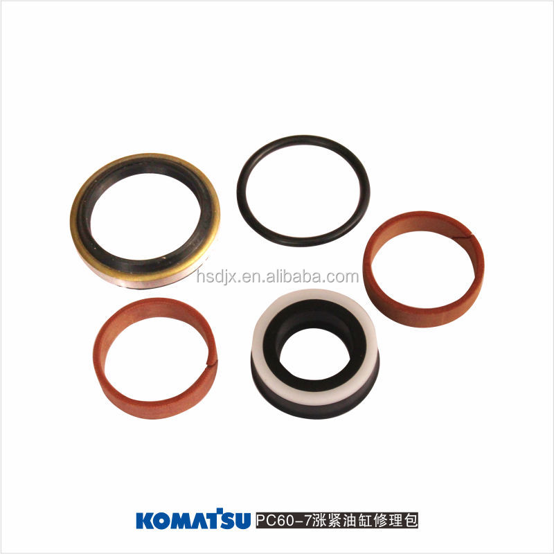 pc60-7 excavator hydraulic parts track adjuster seal kit