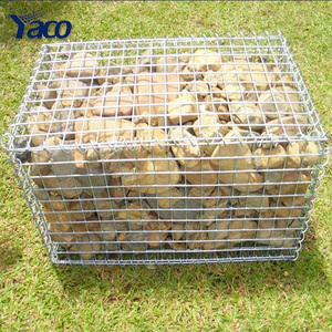 China Hengshui 4mm 5mm 6mm wire 50*50mm 50*100mm hole 1*1*1m 1*1*2m 1*1*3m size italy gabion basket price