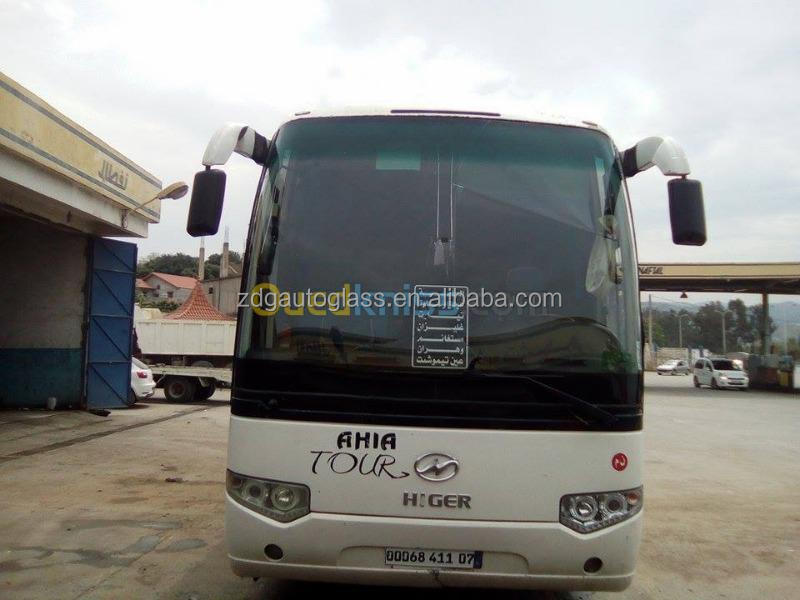Higer bus front windshield glass