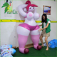 Hot Sexy Big Breasts Girl With Animal / Hongyi Inflatable Animal Sexy Toys With SPH