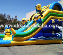 commercial outdoor giant cheap dry inflatable minion slide/giant tarpaulin inflatable minion slide