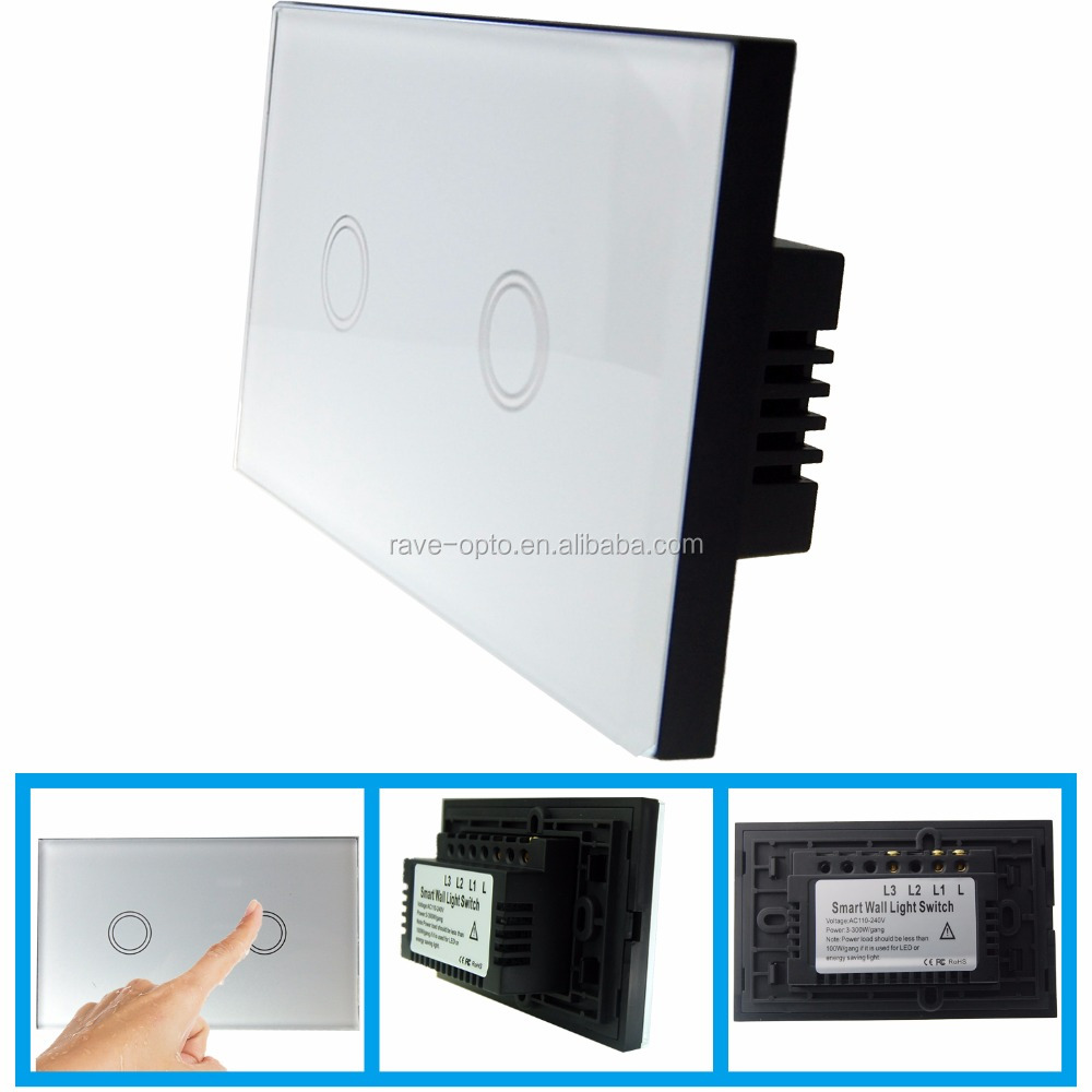 Top Luxury electrical <strong>switches</strong> free shipping US 2Gang RV-TSW-US-2G001