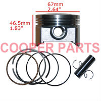 ZongShen CG250 Piston Set,67mm bore Piston Kit,include Piston,Ring,Pin,Clip