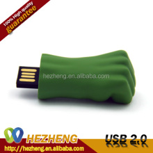 Free Logo Custom Hulk Fist Metal USB Pen Drive 2.0