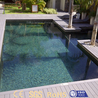Popular outdoor waterproof cheap laminated wooden flooring for swimming pool