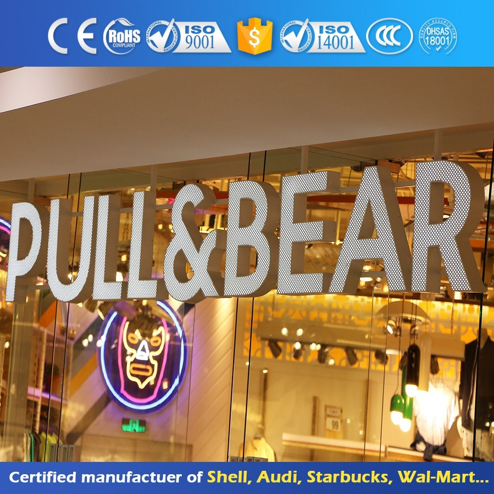 High Quality Stainless Steel Light Alphabet Acrylic Logo Sign Board Front Lit Led Channel Letter