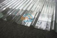 UV resistant Polycarbonate Sky light roofing sheets corrugated