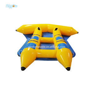 Cheap Price Inflatable Float Water Fishing Banana Boat For Sale