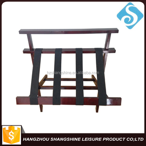 Hotel room wood folding luggage rack