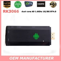 Hot Selling! Android Smart TV Stick RK3066 Dual Core 1G /8G android mini pc WIFI 802.11/b/g/n Bluetooth