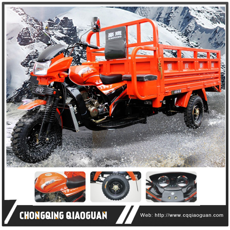 New Chinese 250CC Water Cooled One Cylinder 4 Stroke Engine Gasoline Cargo Three Wheel Motorcycle