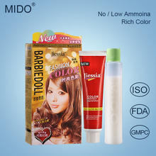 Family Use Dark Red Hair Dye Cream With Color Chart Low Price Free Samples
