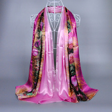 custom silk screening fashionable high quality italian silk scarf