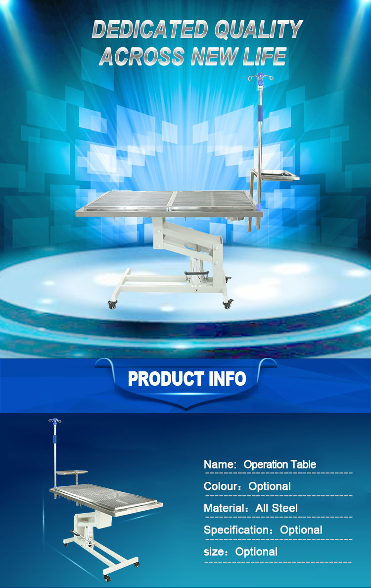Best sell Hydraulic lifting pet surgical operation table animal equipment