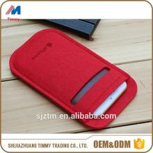 polyester phone cover/earphone case wholesale felt cheap mobile phone case made in China