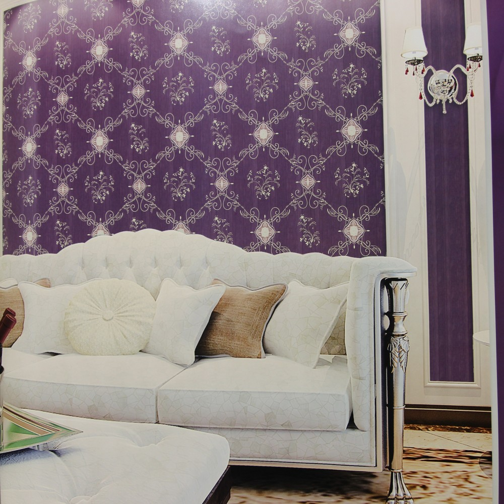 China manufacture heavy vinyl Interior Italy european style hotel wallpaper