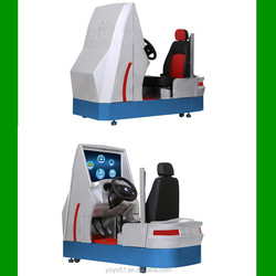 Driving school machine driver simulator with real car pedals