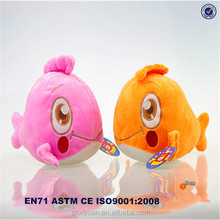 Pink and yellow handmade sea animal doll plush toy whale sea plush toys