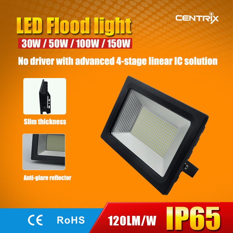 Centrix IP65 30W 50W 100W Ultra Slim No Driver LED Flood Light