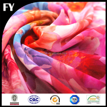 Custom new design high quality digital printed indian chiffon silk fabrics