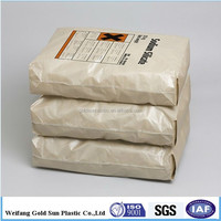 Recycle 25kg 50kg Cement Bag Price/polypropylene Bags Of Cement With Kraft Paper