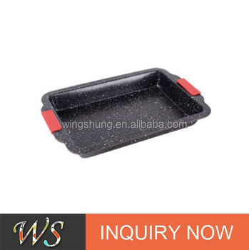 WS-D5009 6 Cups Carbon Steel Muffin Cake Pan with Silicone Handle