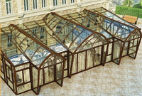 Double layer Liminated glass glass Sun room gardon house designed and manufactured in China