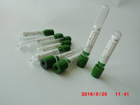 Vacuum blood collection tubes, sodium heparin