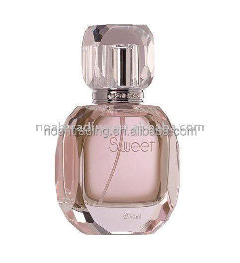 50ml high quality crystal perfume packaging, perfume glass bottle refill, empty designer perfume bottle wholesale