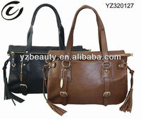 Brown lady tassel handbags