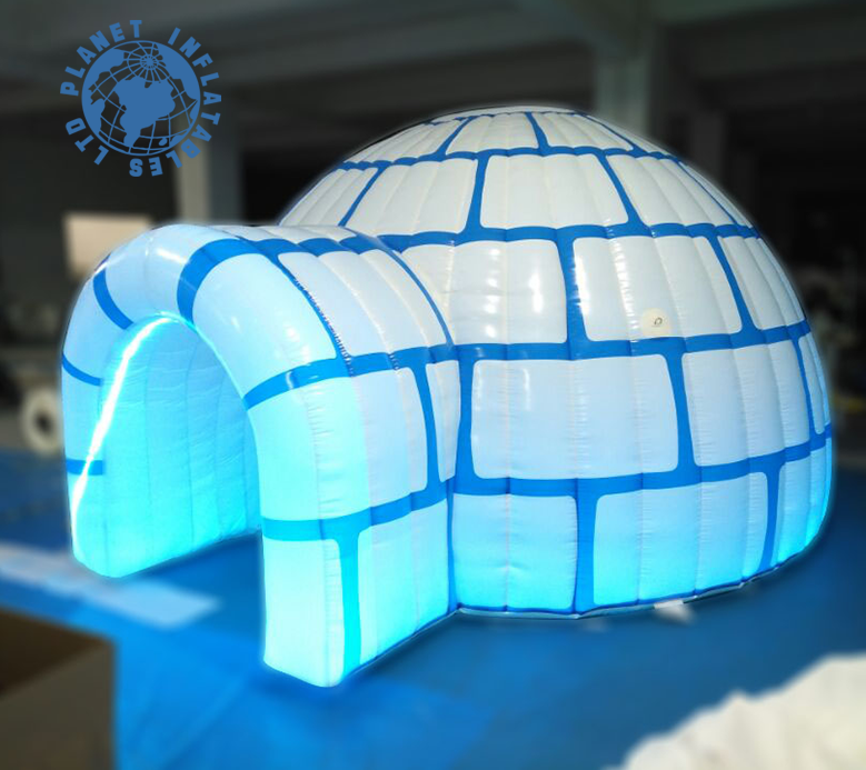 New design Kids Inflatable igloo tents,Inflatable igloos with LED Lighting,small inflatable igloo tent for sale