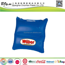 Testing factory logo printing single-shoulder bag blue waterproof shopping pvc inflatable pillow bag