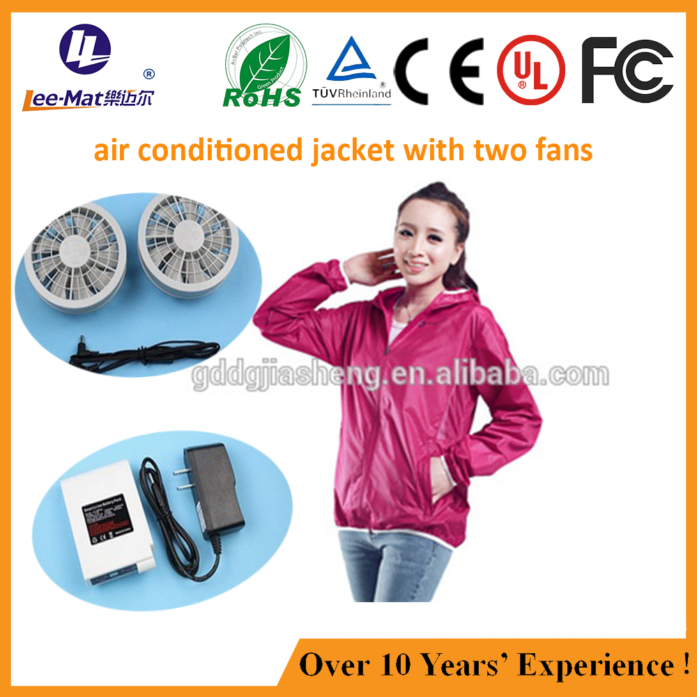 lady summer air conditioned jacket ice cooling two fans electrical lady jacket