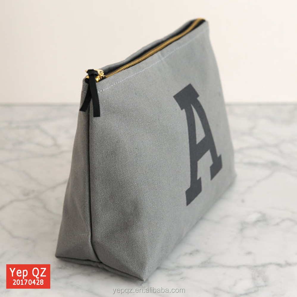 Canvas durable recycled wash bag wholesale custom toiletry bag