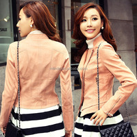 ladies stylish pink jacket for spring and autumn, pink ladies jacket