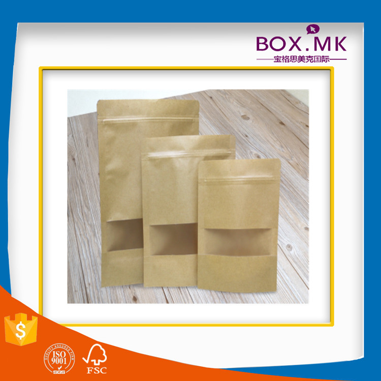 Recycle Stand Up Kraft New Die Cut Rotisserie Chicken To Go Paper Bag With Window