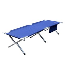 Adult travel stainless steel folding ikea camping metal cot bed