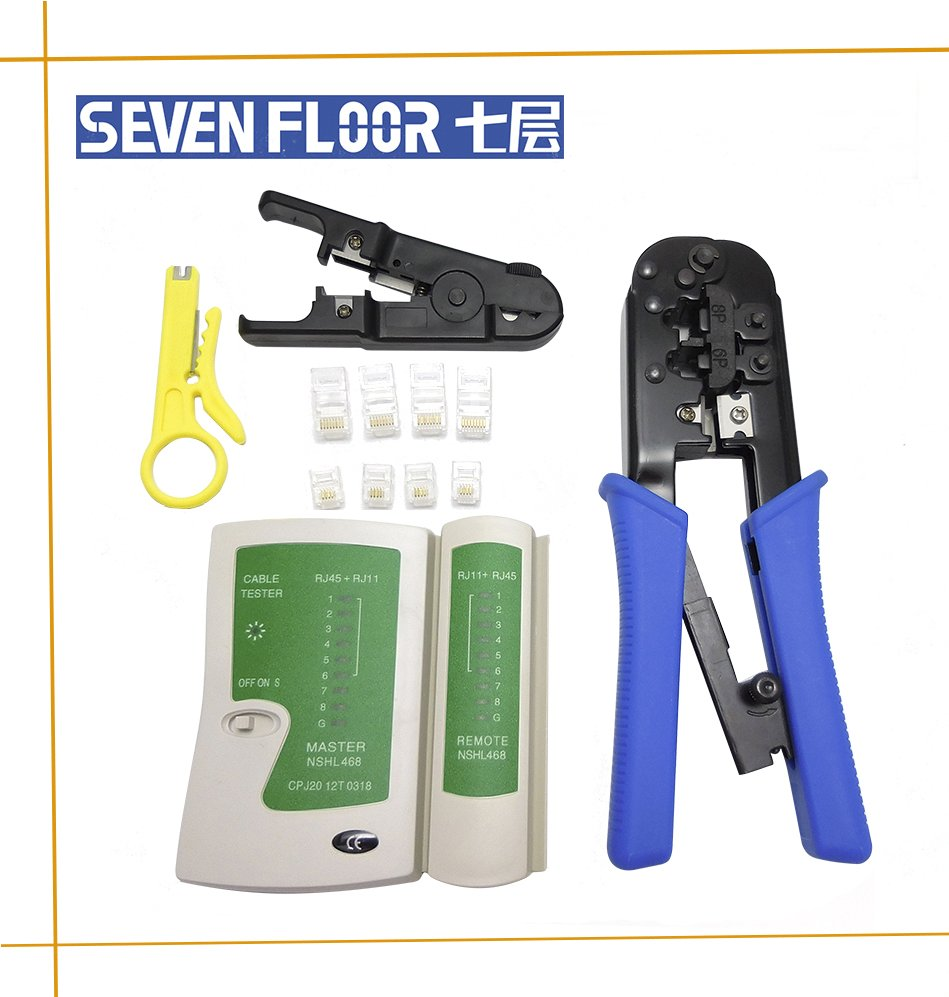 cable stripper and crimping tool rj45, rj11, Cat5 network tool kit